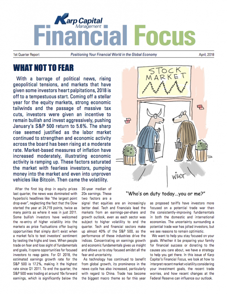 Financial focus newsletter cover photo