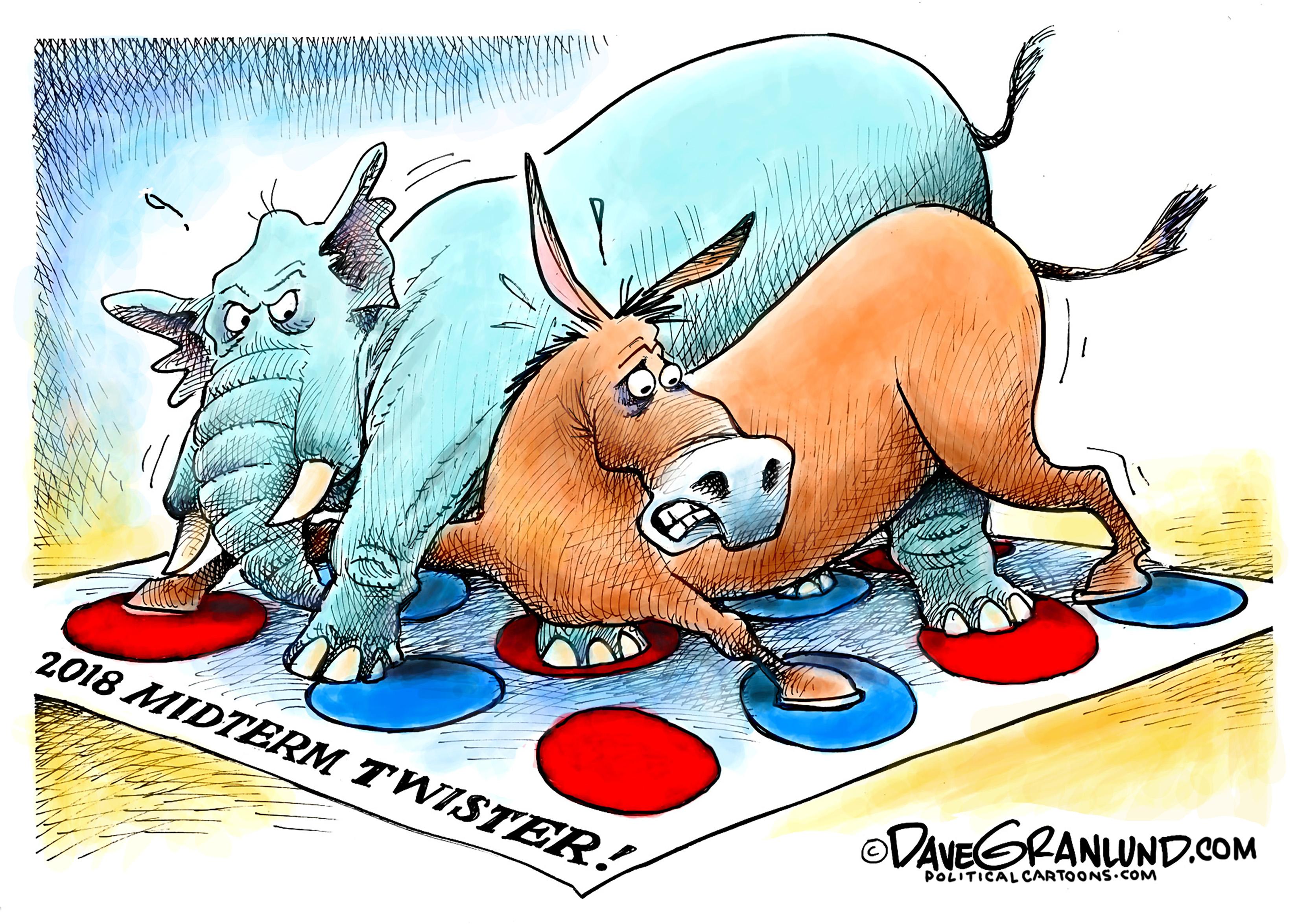 2018 midterm twister cartoon